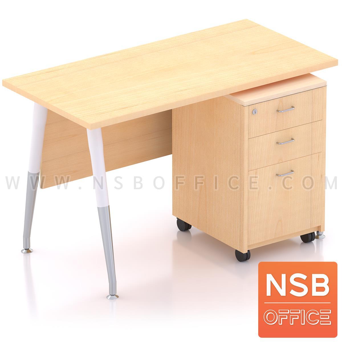 A39A002:โต๊ะทำงานพร้อมลิ้นชักไม้ล้อเลื่อน รุ่น Plantnery 1 (แพลนเนอรี่ 1) ขนาด 120W cm. มีบังตา ขาเหล็ก