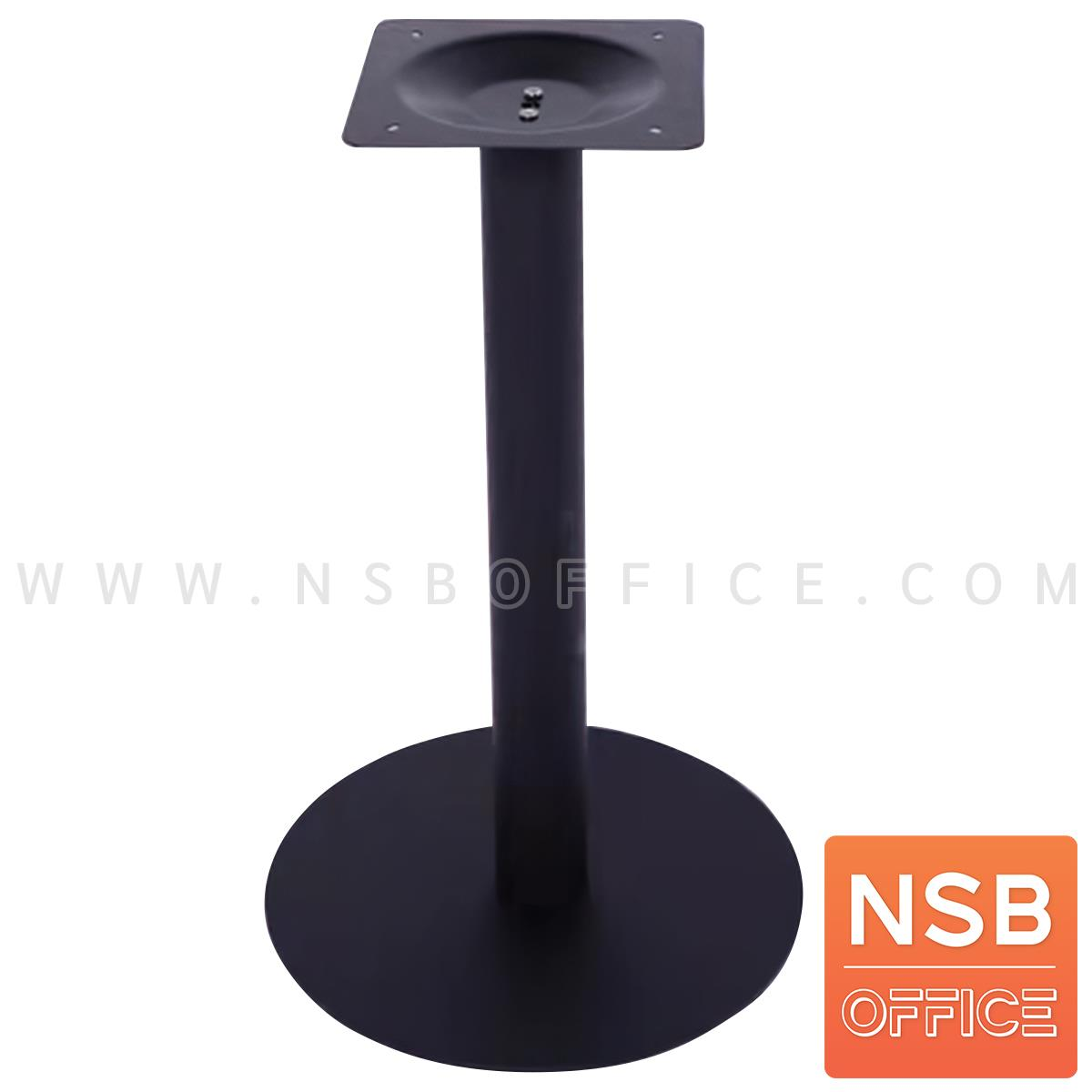 A14A212:โต๊ะบาร์จานกลมแผ่นเรียบ ทำสีดำ รุ่น NANT