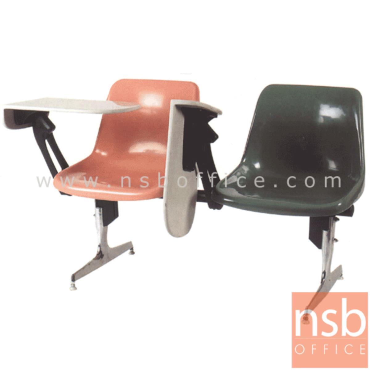 เก้าอี้เลคเชอร์แถวเฟรมโพลี่ รุ่น D390 2 ,3 และ 4 ที่นั่งขาอลูมิเนียมขัดเงา