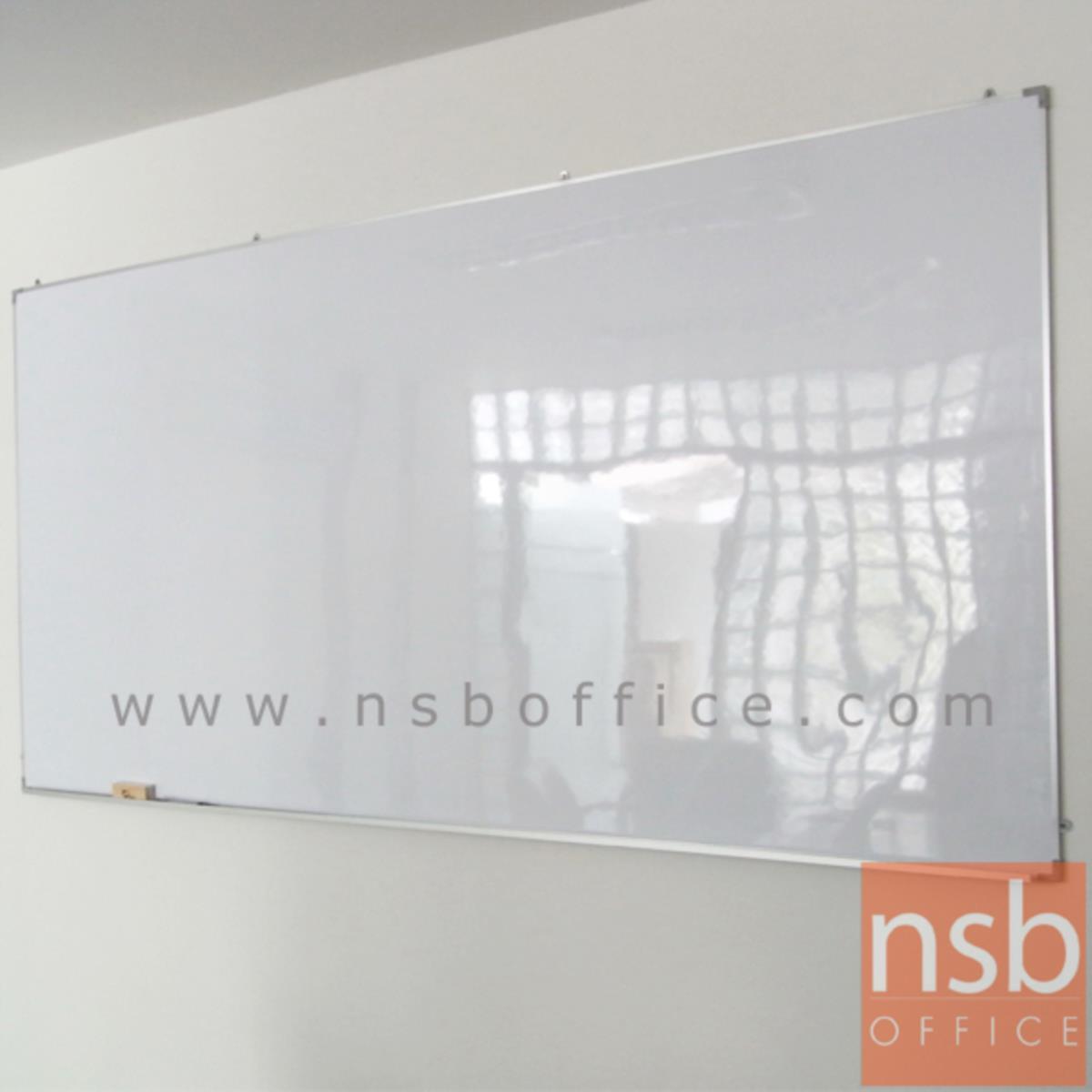 """G01A021:กระดานไวท์บอร์ด White board ขนาดใหญ่   ขอบอลูมิเนียมขนาด  1"""" * 1/2"""" นิ้ว (พร้อมงานติดตั้งบนผนัง)"""
