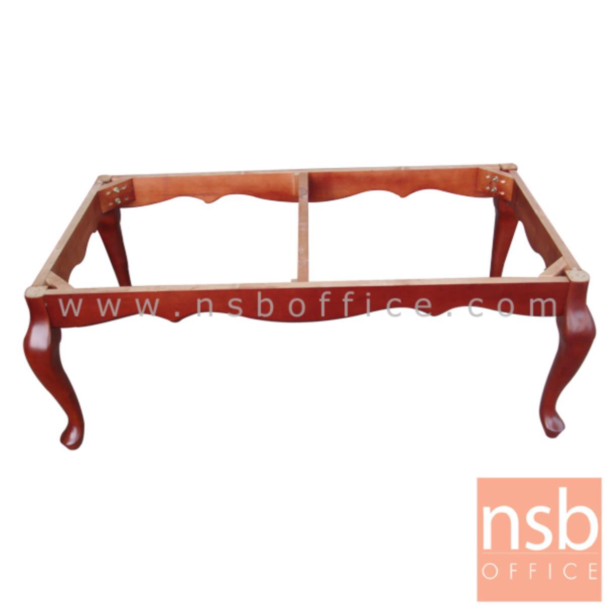 โต๊ะกลางหินอ่อน  รุ่น MABLE-สิงห์ ขนาด 120W cm. ขาไม้