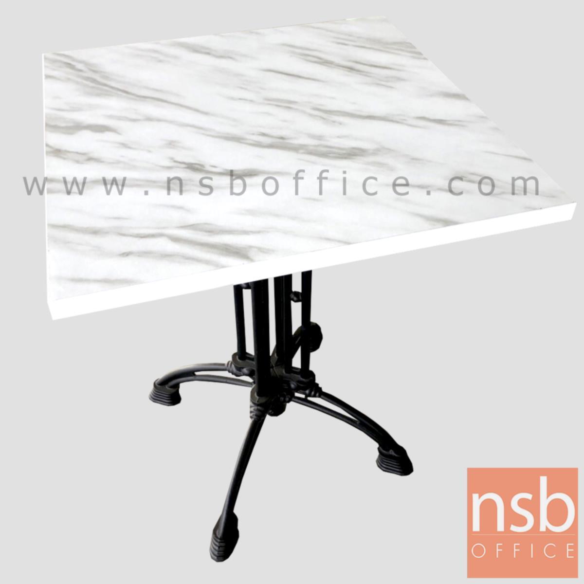 A14A239:โต๊ะขาเหล็กหล่อหน้าเมลามีน รุ่น Christian (ครีซ-แช็น) ขาเหล็กแฉกสีดำ