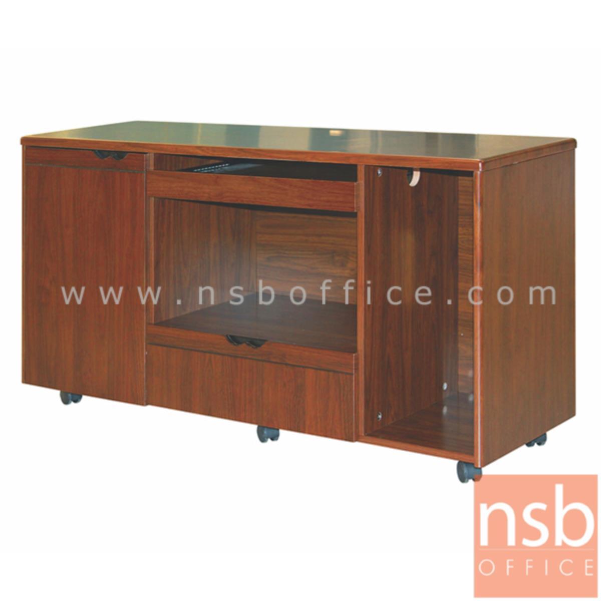 โต๊ะผู้บริหารตัวแอล  รุ่น LUCKY  ขนาด 160W ,180W cm.  พร้อมโต๊ะลิ้นชักและตู้ข้าง