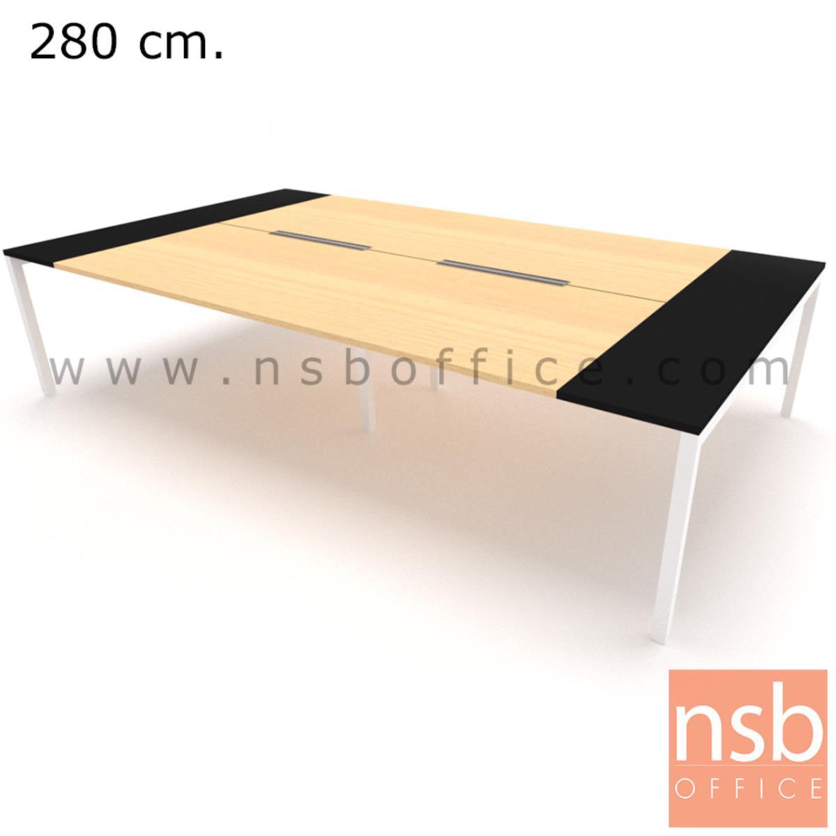 A05A177:โต๊ะประชุมทรงสี่เหลี่ยม 180D cm. NSB-SQ18  พร้อม popup แบบสองทาง
