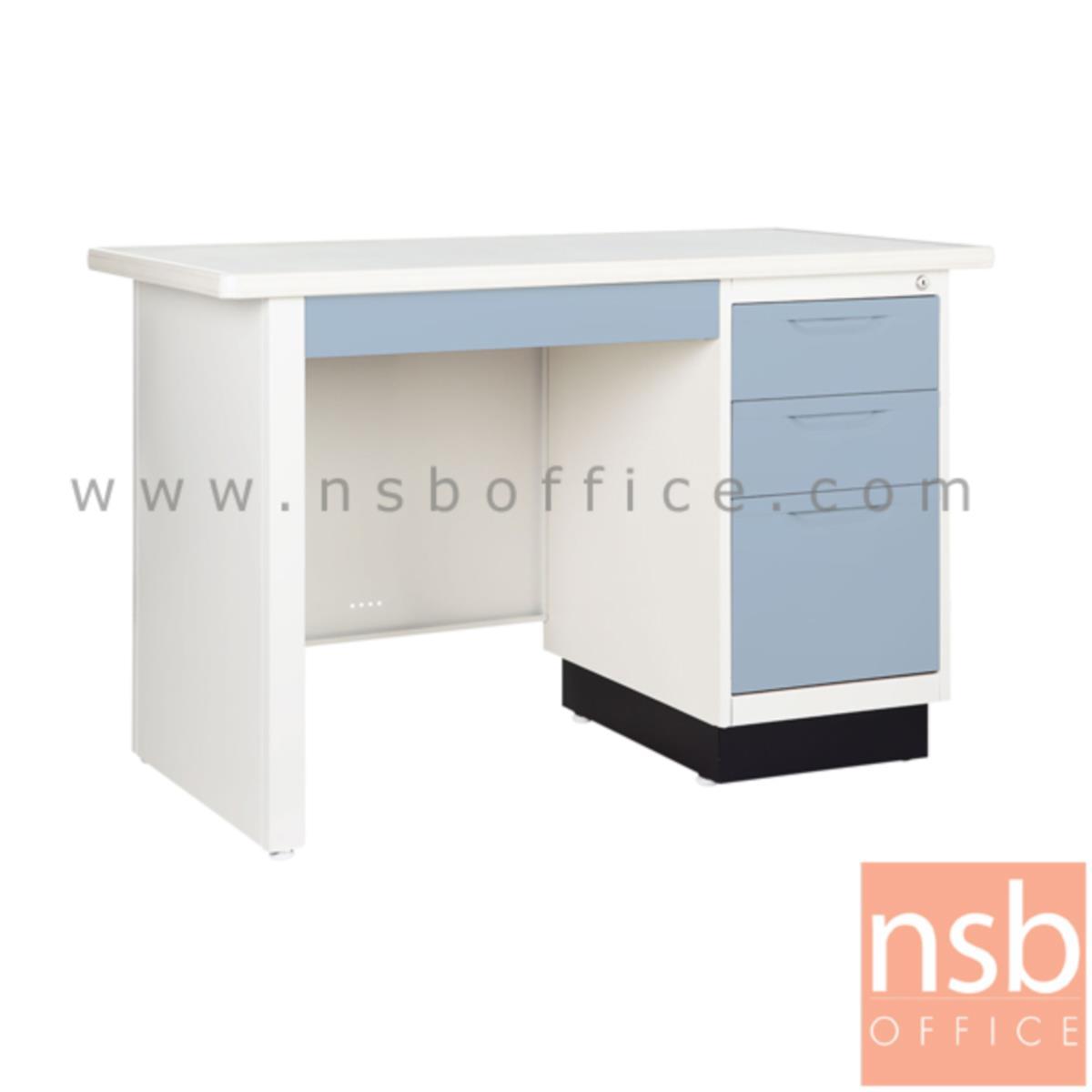 โต๊ะทำงานหน้าเหล็ก 4 ลิ้นชัก  รุ่น BS ขนาด 3.5 ,4 ฟุต
