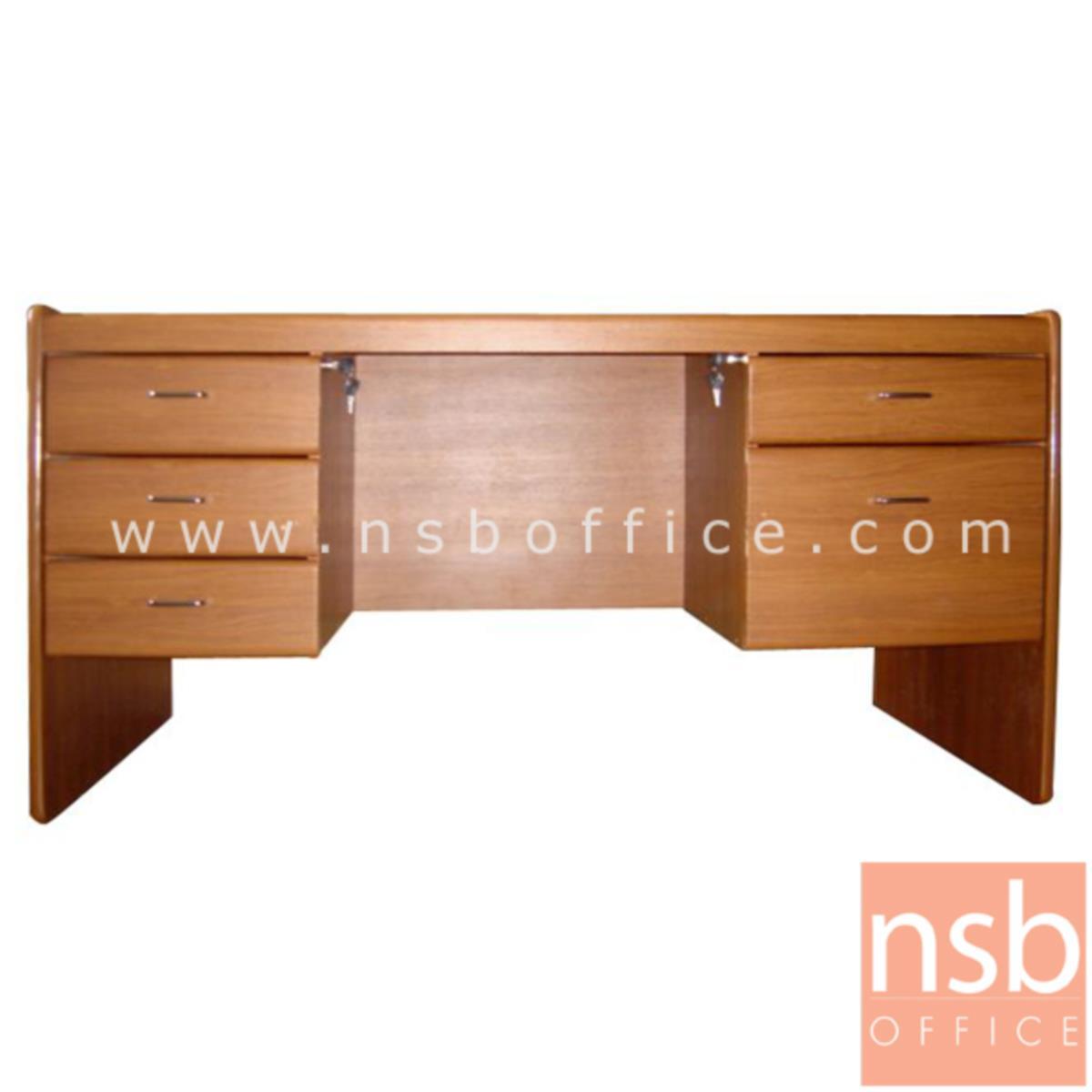 A01A004:โต๊ะทำงานใหญ่ 150W cm.  รุ่น Righteous (ไรเชียส)  4 ,5 ลิ้นชัก พร้อมกุญแจล็อค