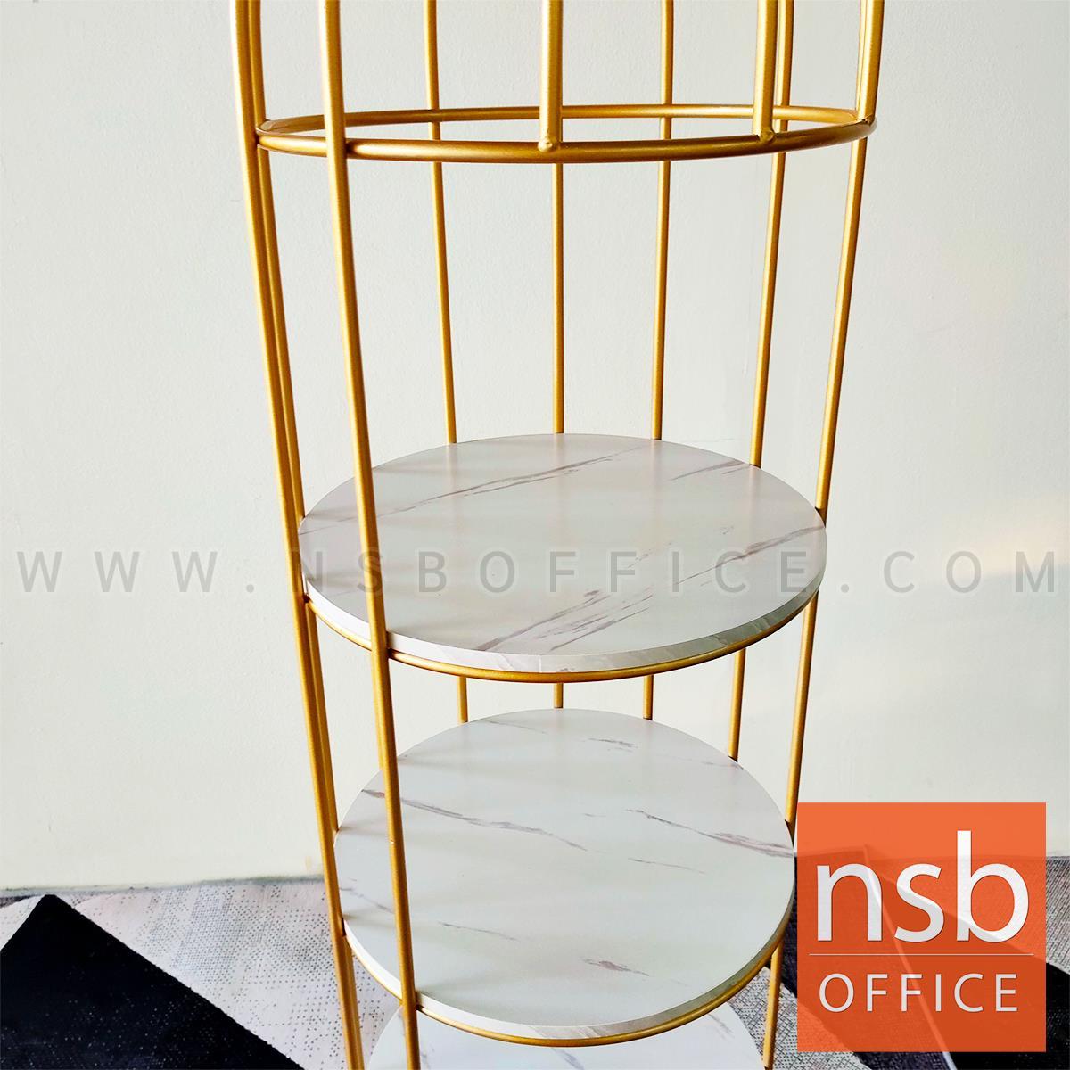 ชั้นอเนกประสงค์วางของ รุ่น Splendid (สเปนดิด) ขนาด 40W*177H cm. โครงเหล็กสีทอง