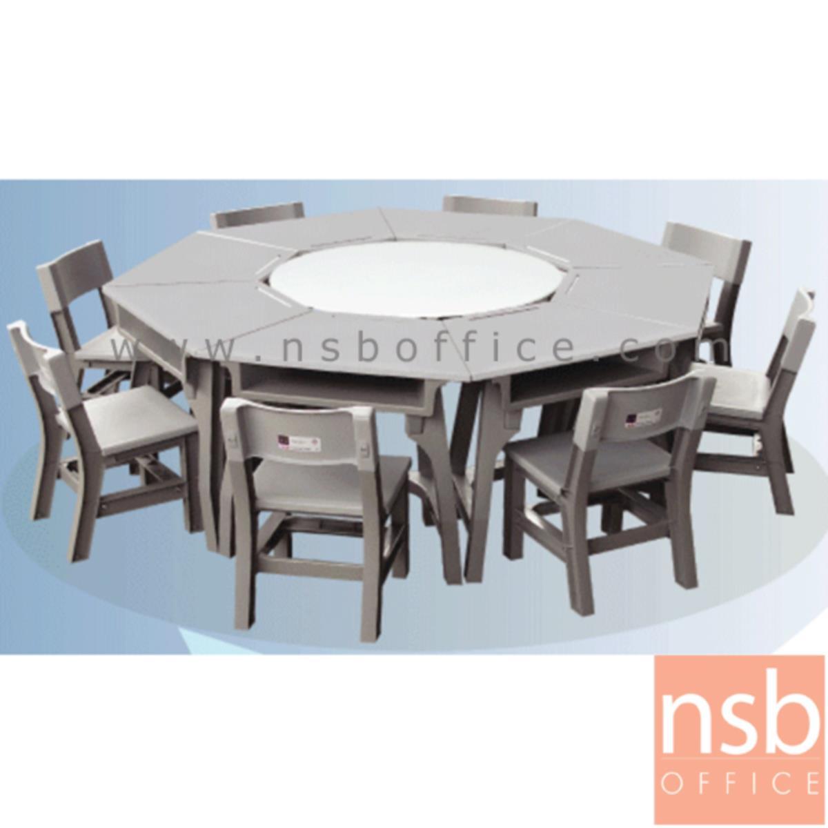 ชุดโต๊ะและเก้าอี้นักเรียน รุ่น WhiteSmoke (ไวท์สโมค)  ระดับชั้นมัธยม ขาพลาสติก