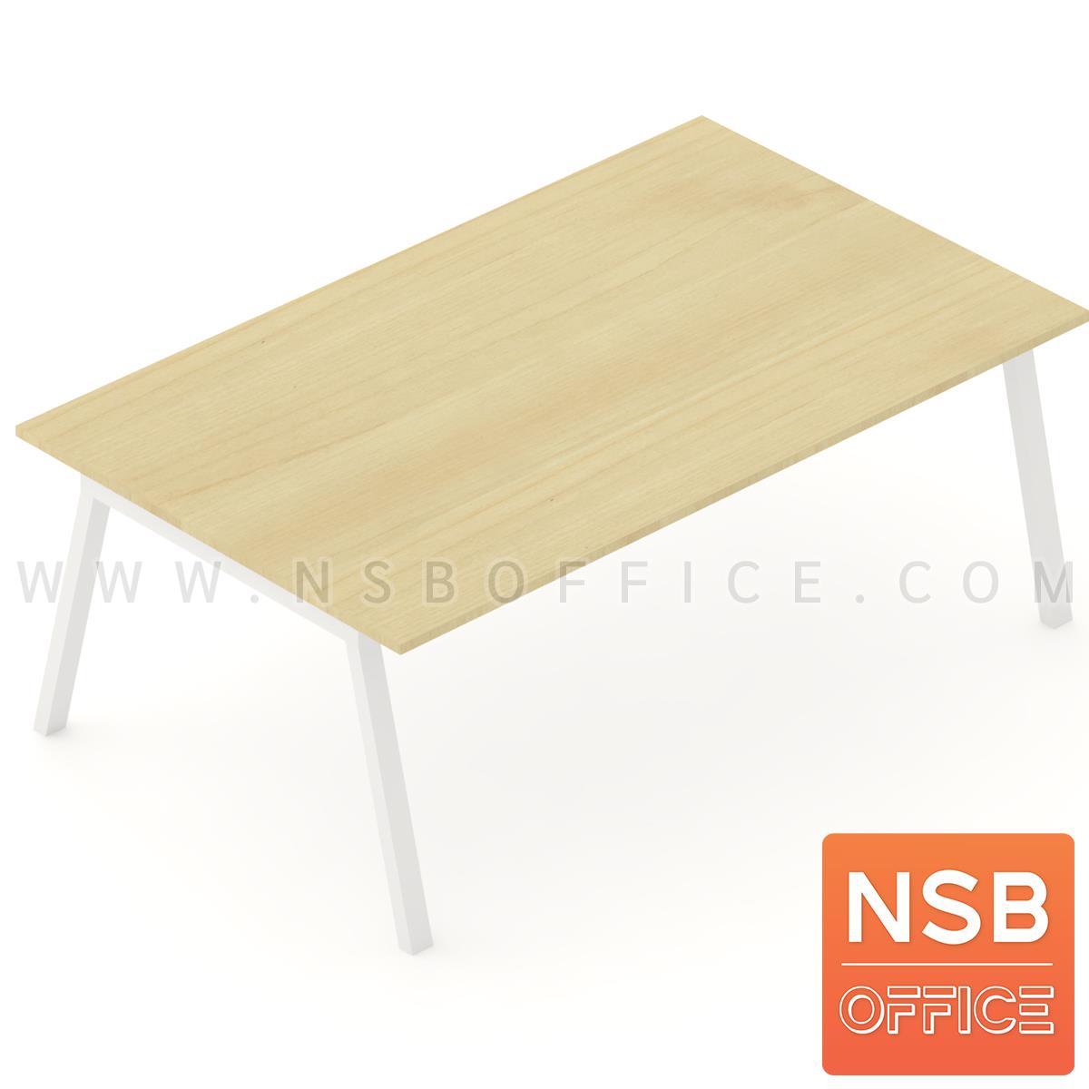 A05A187:โต๊ะประชุมทรงสี่เหลี่ยม ขาทรงเอ  200W, 240W cm