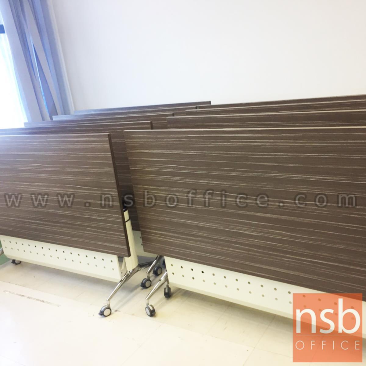 โต๊ะประชุมพับเก็บได้ล้อเลื่อน รุ่น YT-FTG20 ขนาด 160W*60D ,80D cm.  พร้อมบังโป๊เหล็ก