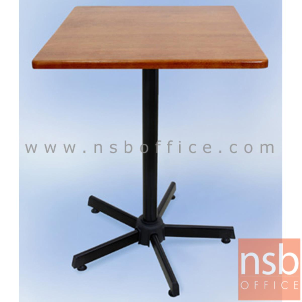 โต๊ะไม้ยางพารา รุ่น Fyn (ฟิน) ขนาด 60W ,75W cm. ขาเหล็ก