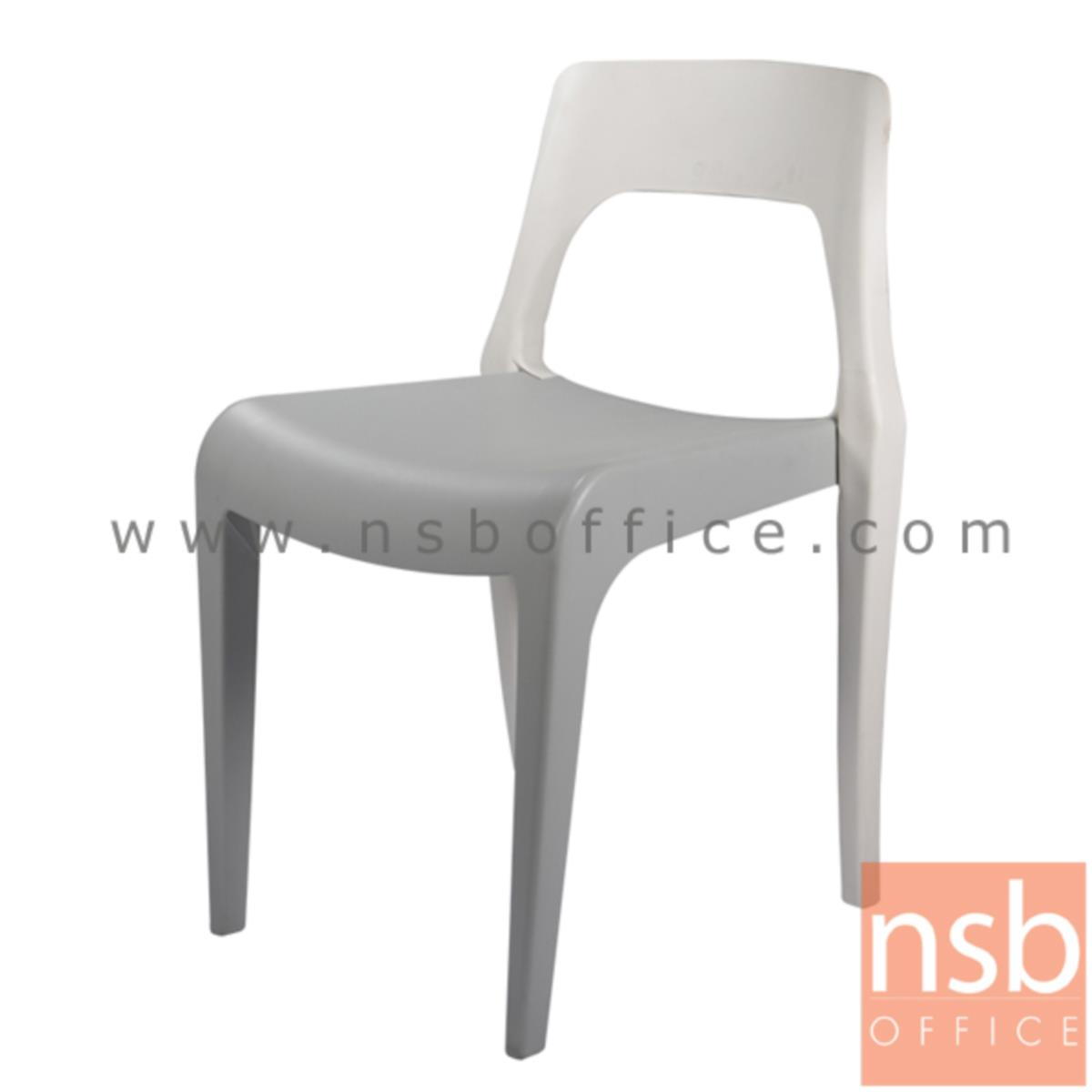 B11A029:เก้าอี้โมเดิร์นพลาสติกล้วน(PP)สีสันทูโทน รุ่น PTN-PN9132 ขนาด 48W cm.