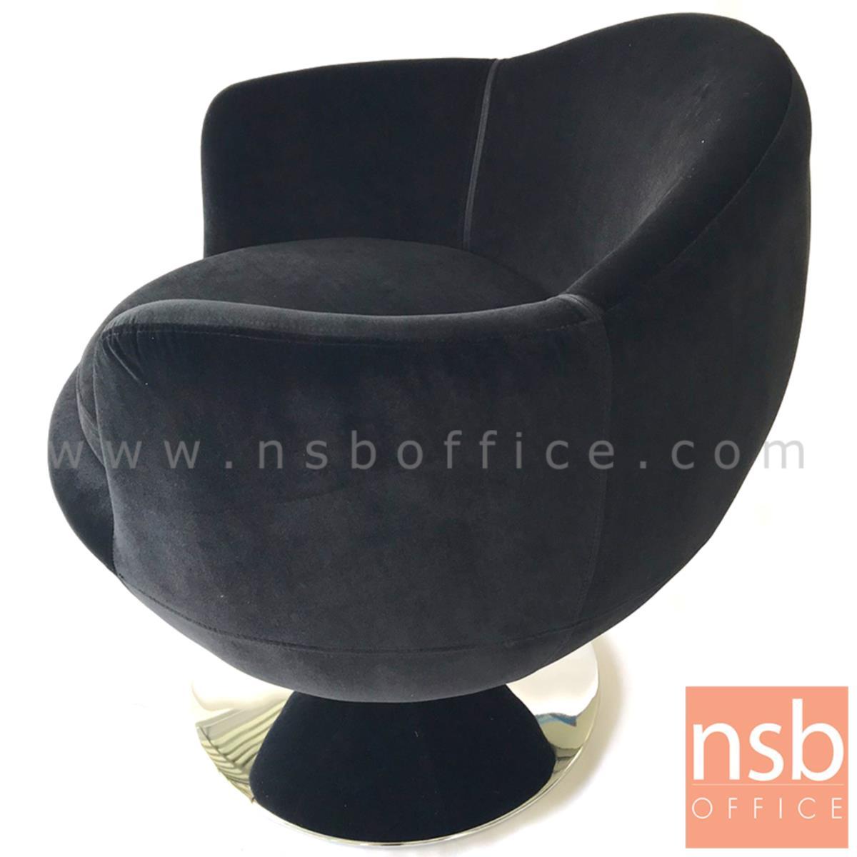 เก้าอี้โมเดิร์นหุ้มผ้า รุ่น velvet (เวลเวท)  โครงขาจานเหล็กชุบโครเมี่ยม