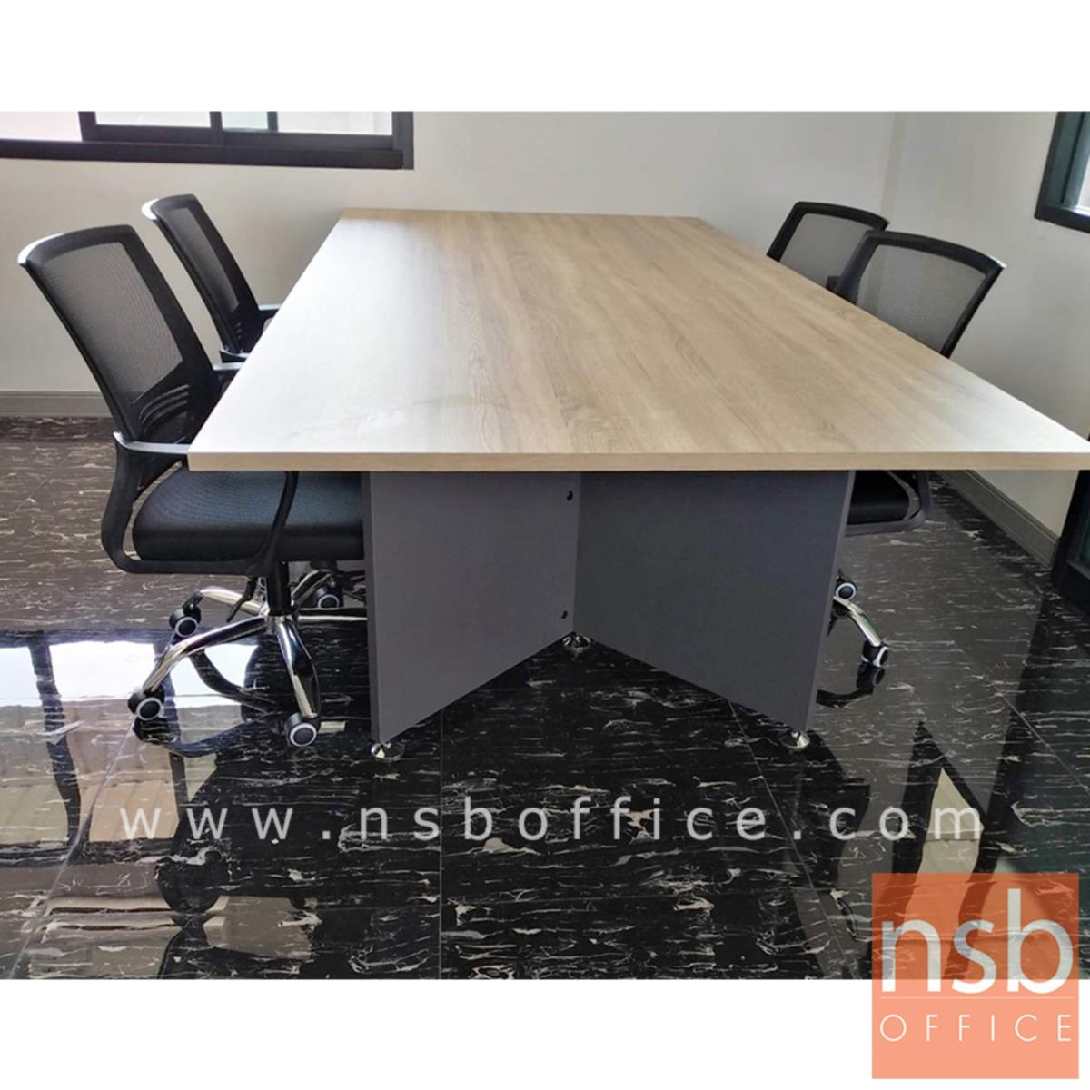 โต๊ะประชุมทรงสี่เหลี่ยม  รุ่น Severus ขนาด 240W cm. เมลามีน