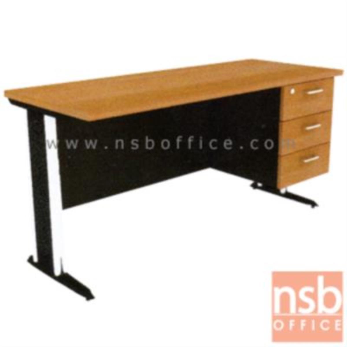 A10A047:โต๊ะทำงาน 3 ลิ้นชัก  120W ,135W ,150W ,180W (75D, 80D) cm.  ขาเหล็กตัวแอล