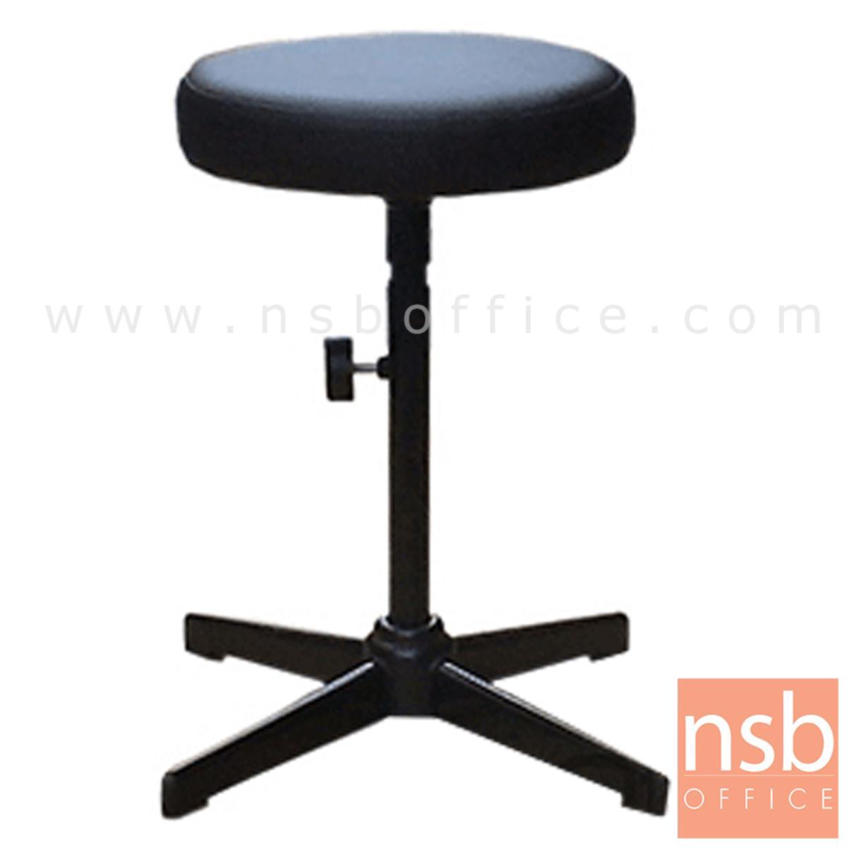 B09A070:เก้าอี้บาร์สตูลที่นั่งกลม รุ่น Lilybelle (ลิลลี่เบล)  ขาเหล็กพ่นดำ 4 แฉก