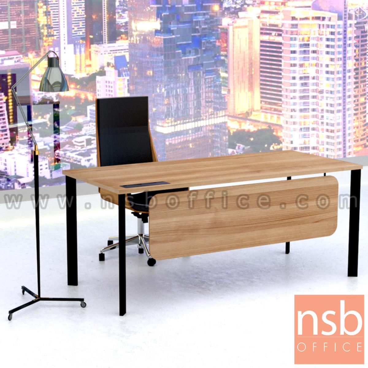 โต๊ะทำงานผู้บริหาร รุ่น Oxecure (อ็อกซิเคียว)  พร้อมป๊อบอัพ ขาเหล็ก