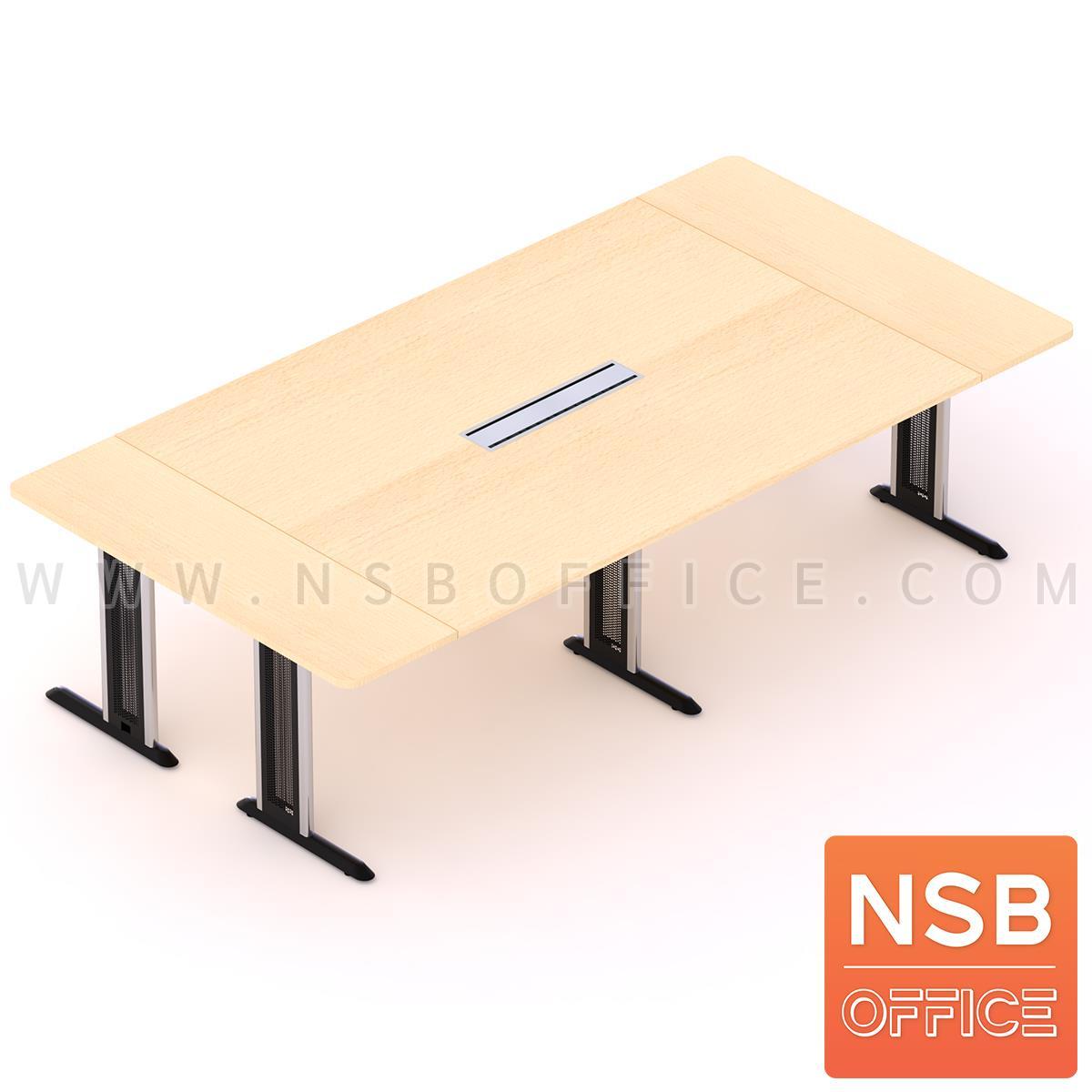 A05A149:โต๊ะประชุมทรงสี่เหลี่ยม รุ่น Daffodil ขนาด 280W ,320W ,440W ,520W ,620W cm. พร้อมกล่องไฟ ขาเหล็กตัวแอล