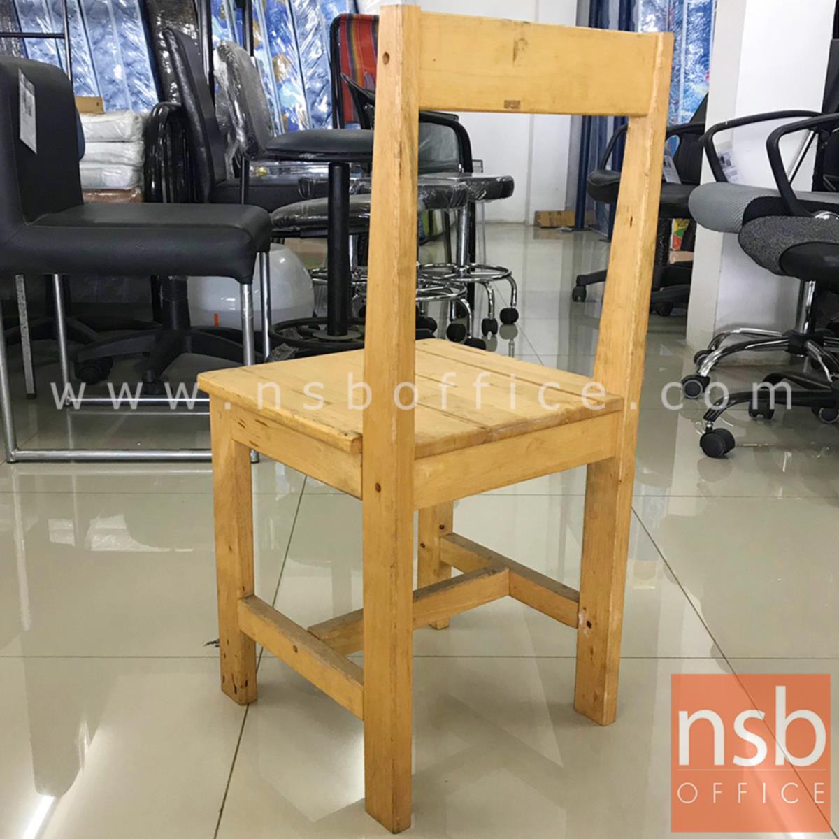 เก้าอี้ไม้ล้วน รุ่น NSB-CHAIR2 ขนาด 35W*74H cm. (STOCK-1 ตัว)