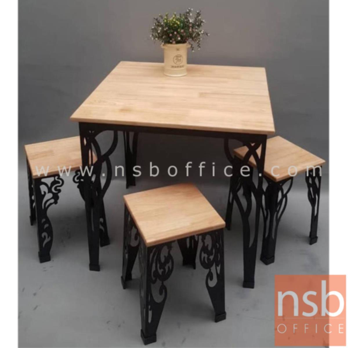 G14A149:ชุดโต๊ะรับประทานอาหารหน้าไม้ยางพารา 4 ที่นั่ง รุ่น BCS-790AA ขนาด 75W cm. พร้อมเก้าอี้