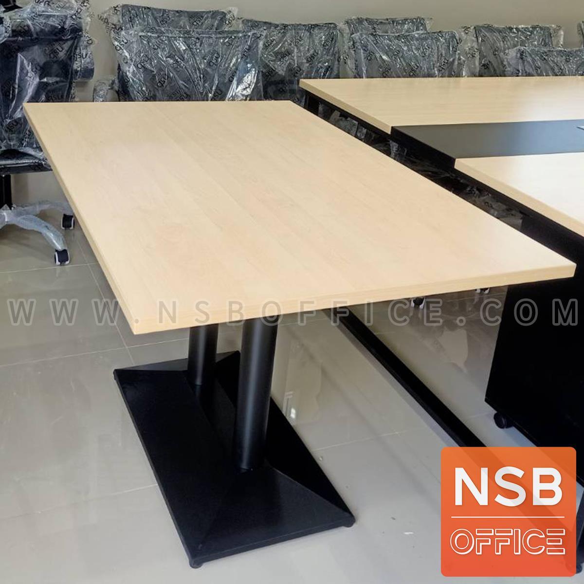 โต๊ะบาร์ COFFEE รุ่น H-CF48 ขนาด 120W cm. ขาเหล็กฐานพีระมิดสีดำ