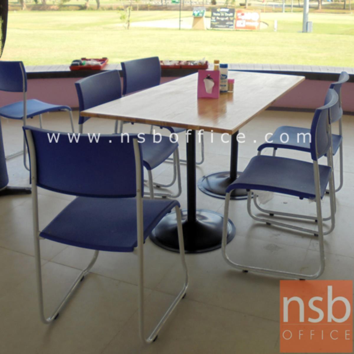 เก้าอี้อเนกประสงค์เฟรมโพลี่ รุ่น B718  ขาเหล็กตัวยูพ่นสีเทา
