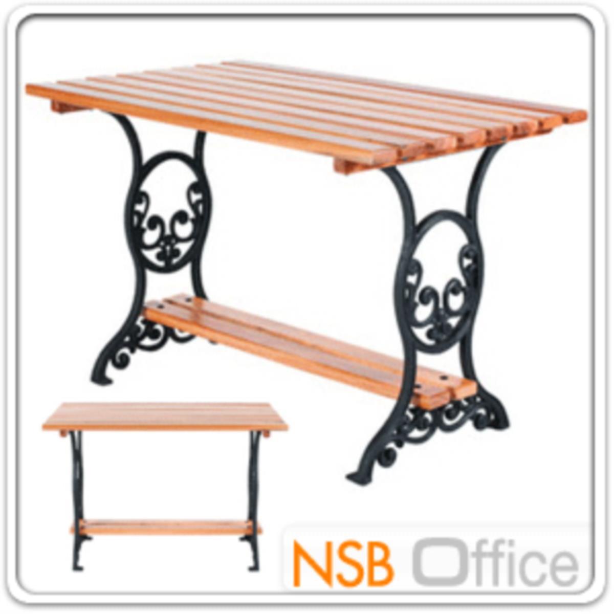 โต๊ะสนามไม้เต็ง เหล็กหล่อ กทม. BKK-TOO30 (100, 120, 150, 200 cm)
