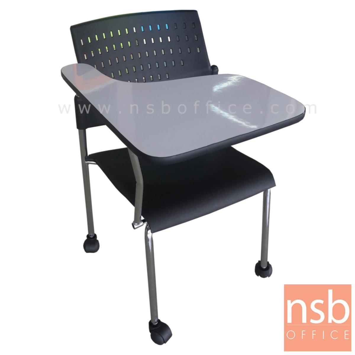 B07A080:เก้าอี้เลคเชอร์เฟรมโพลี่ล้อเลื่อน รุ่น Sylvia (ซิลเวียร์)  ขาเหล็กชุบโครเมี่ยม