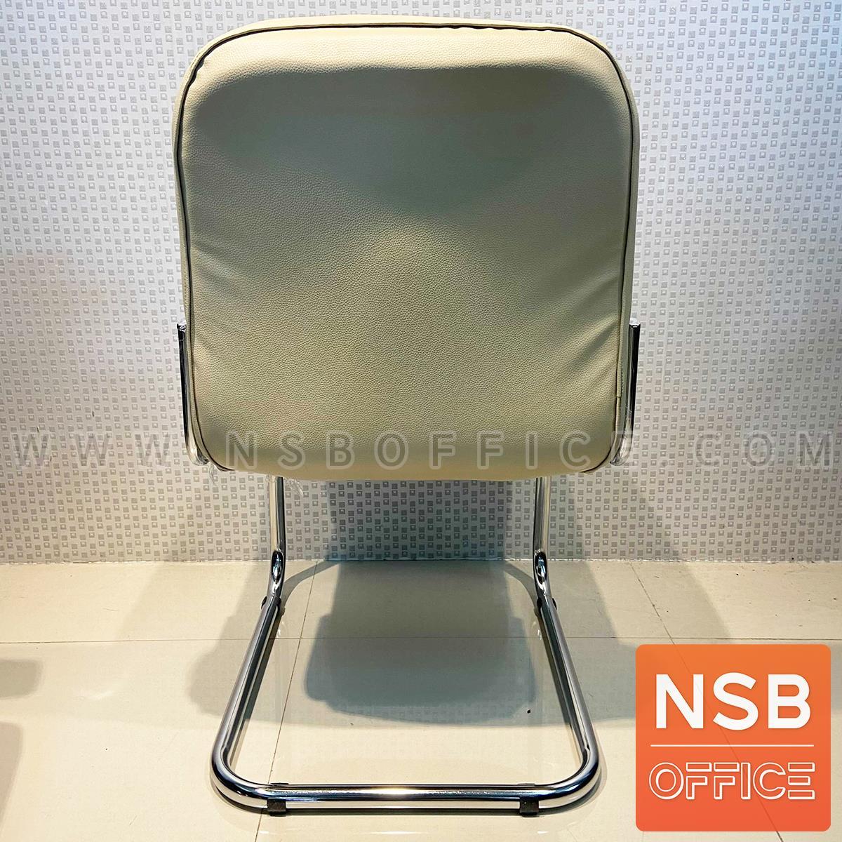 เก้าอี้รับแขกขาตัวซี รุ่น CM-1180  ขาเหล็กชุบโครเมี่ยม