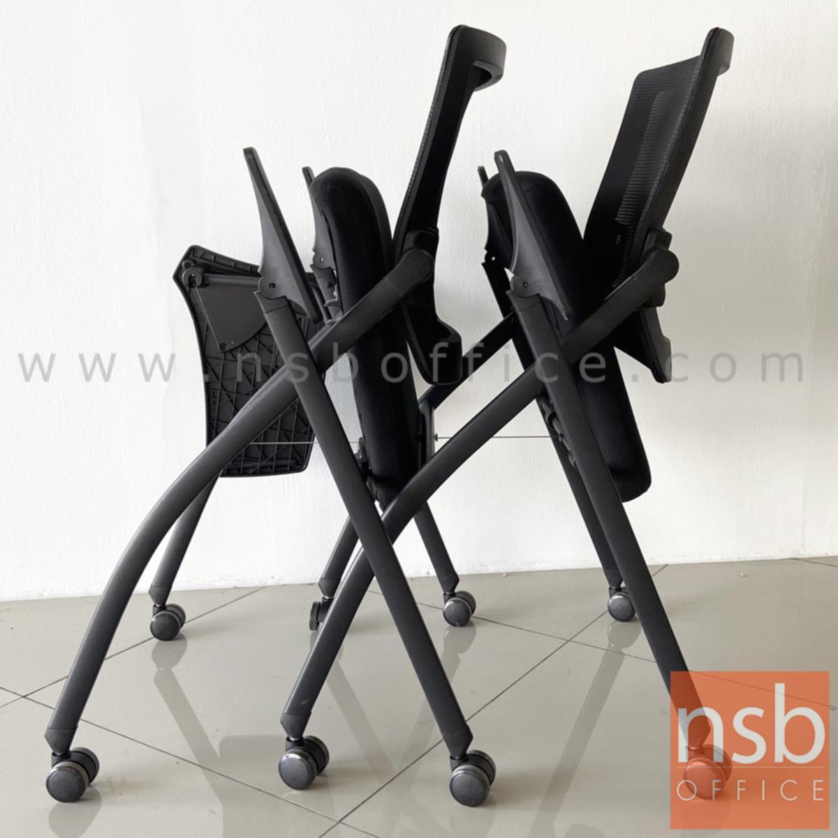 เก้าอี้สำนักงานหลังเน็ต รุ่น Daho (ดาโฮ)  ขาเหล็กพ่นสีดำ