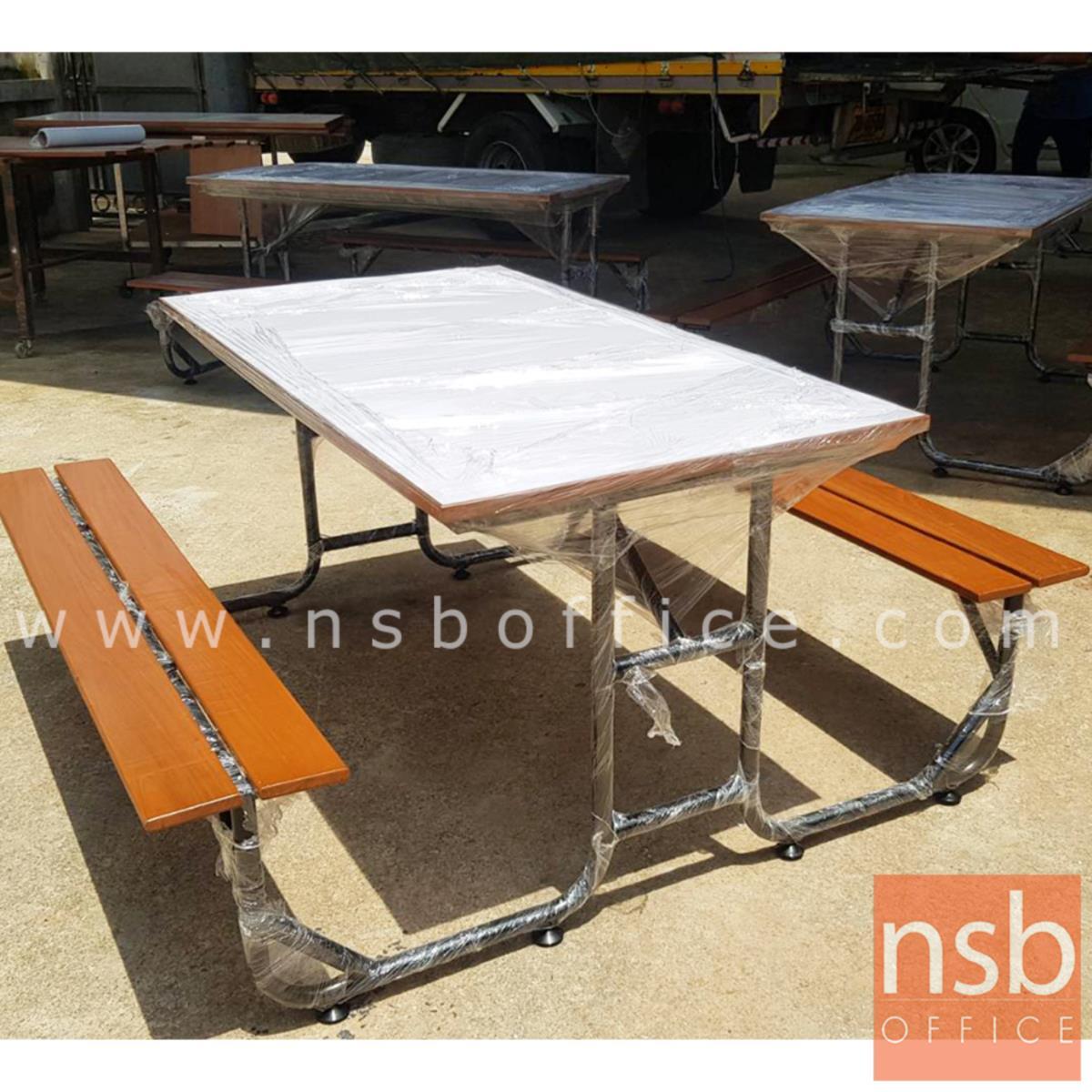 A17A093:ชุดโต๊ะและเก้าอี้ไม้กิจกรรม รุ่น gardenia (การ์ดิเนีย) ขนาด 150W, 180W cm.