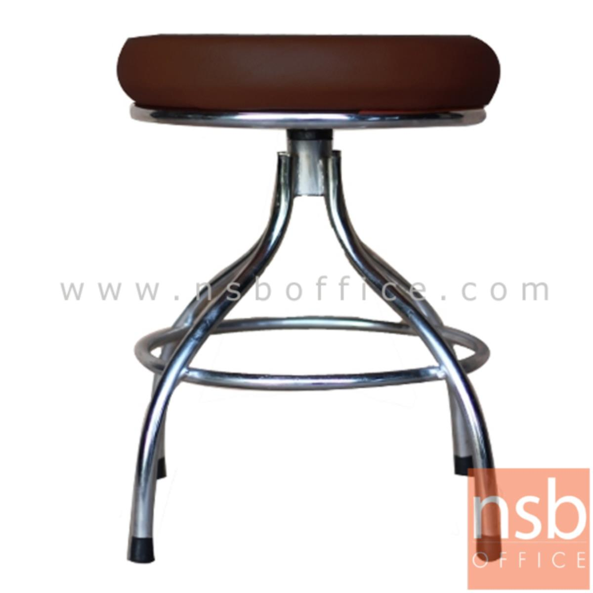 B09A102:เก้าอี้บาร์สตูลที่นั่งกลม รุ่น Whitley (วิทลีย์)  ขาทรงถ้วยชุบโครเมี่ยม