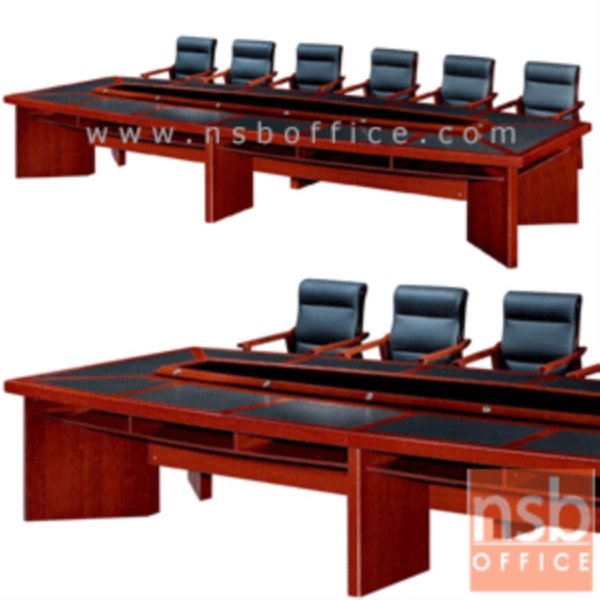 A05A101:โต๊ะประชุมนำเข้า รุ่น Withers (วิเทอส์)  ขนาด 380W ,480W cm.  สีมะฮอกกานี