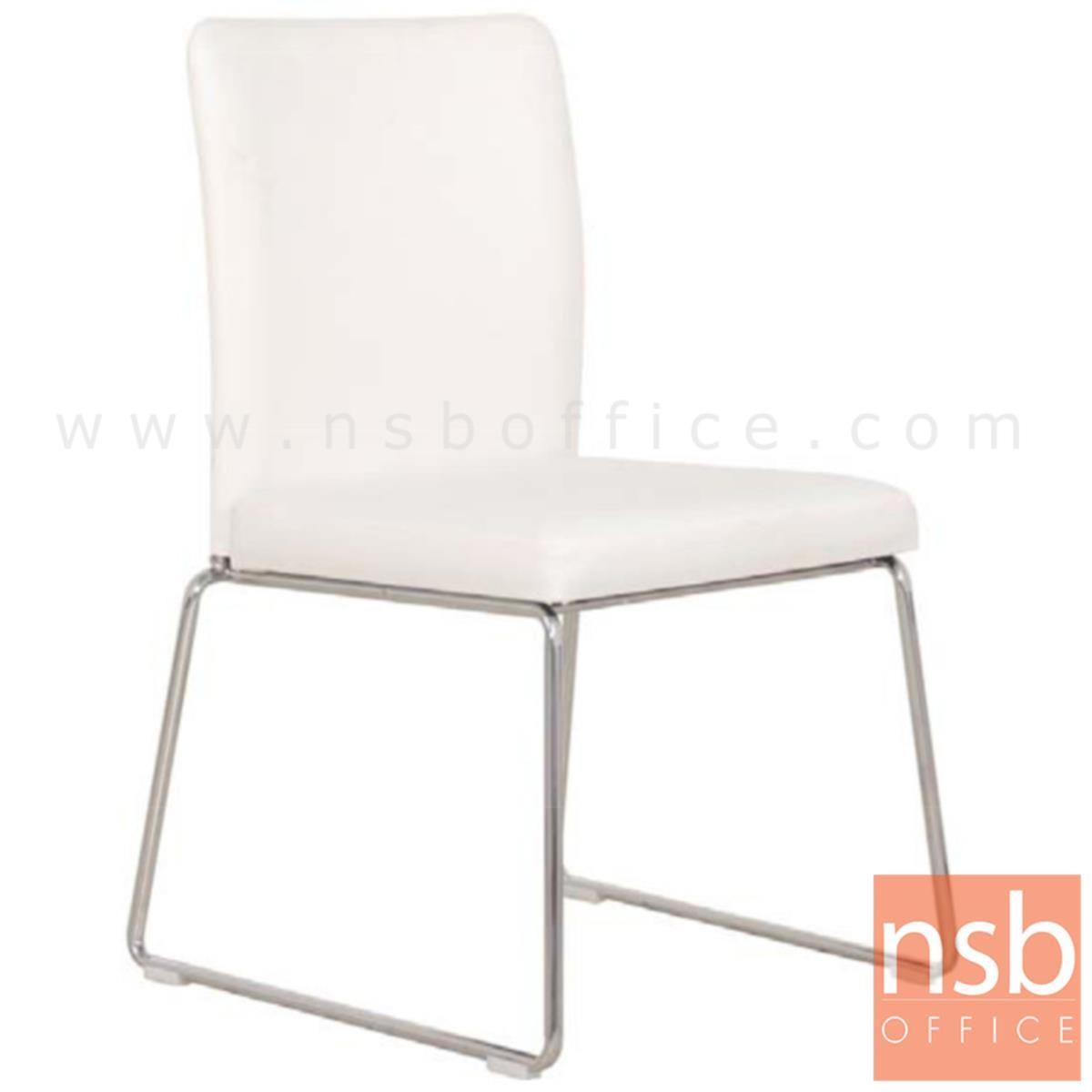 B20A092:เก้าอี้รับแขกขาตัวยู รุ่น GD-BEW  ขาเหล็กชุบโครเมี่ยม