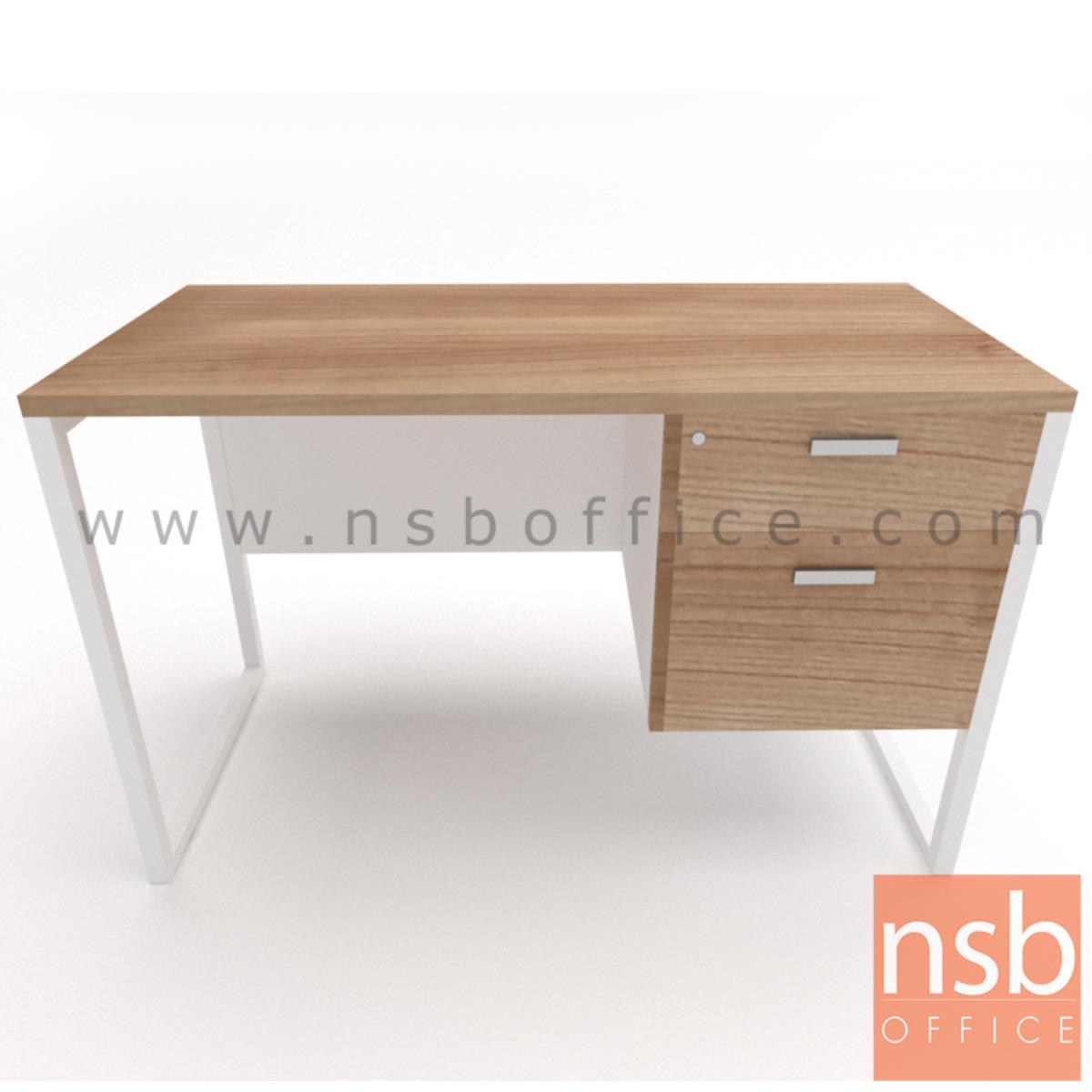 โต๊ะทำงาน 2 ลิ้นชัก รุ่น Mondaine (มอนเดน) ขนาด 120W ,135W ,150W ,160W ,180W cm.  ขาเหล็กกล่องพ่นสี