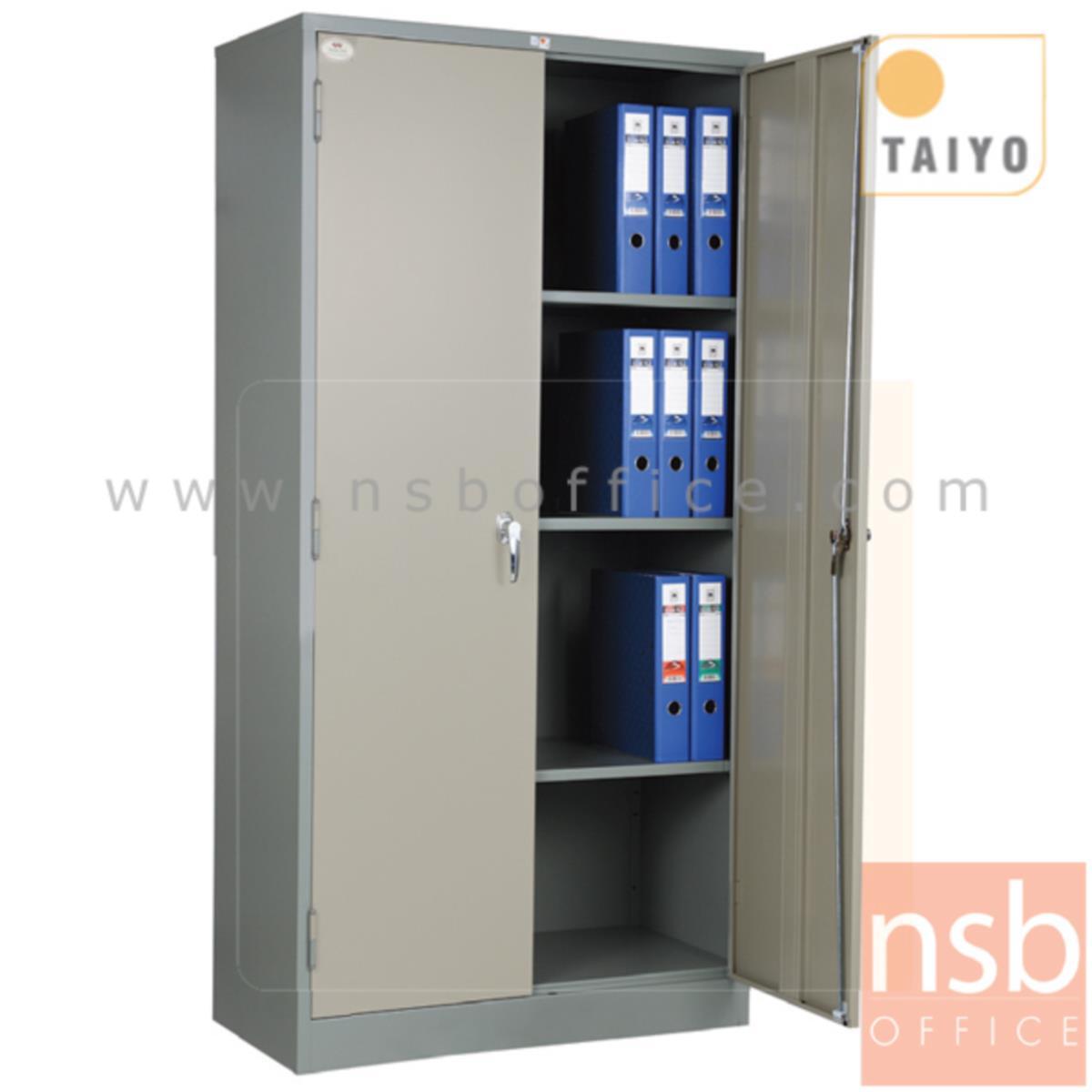 E02A018:ตู้เหล็ก 2 บานเปิด มือจับเขาบิด รุ่น LK-100