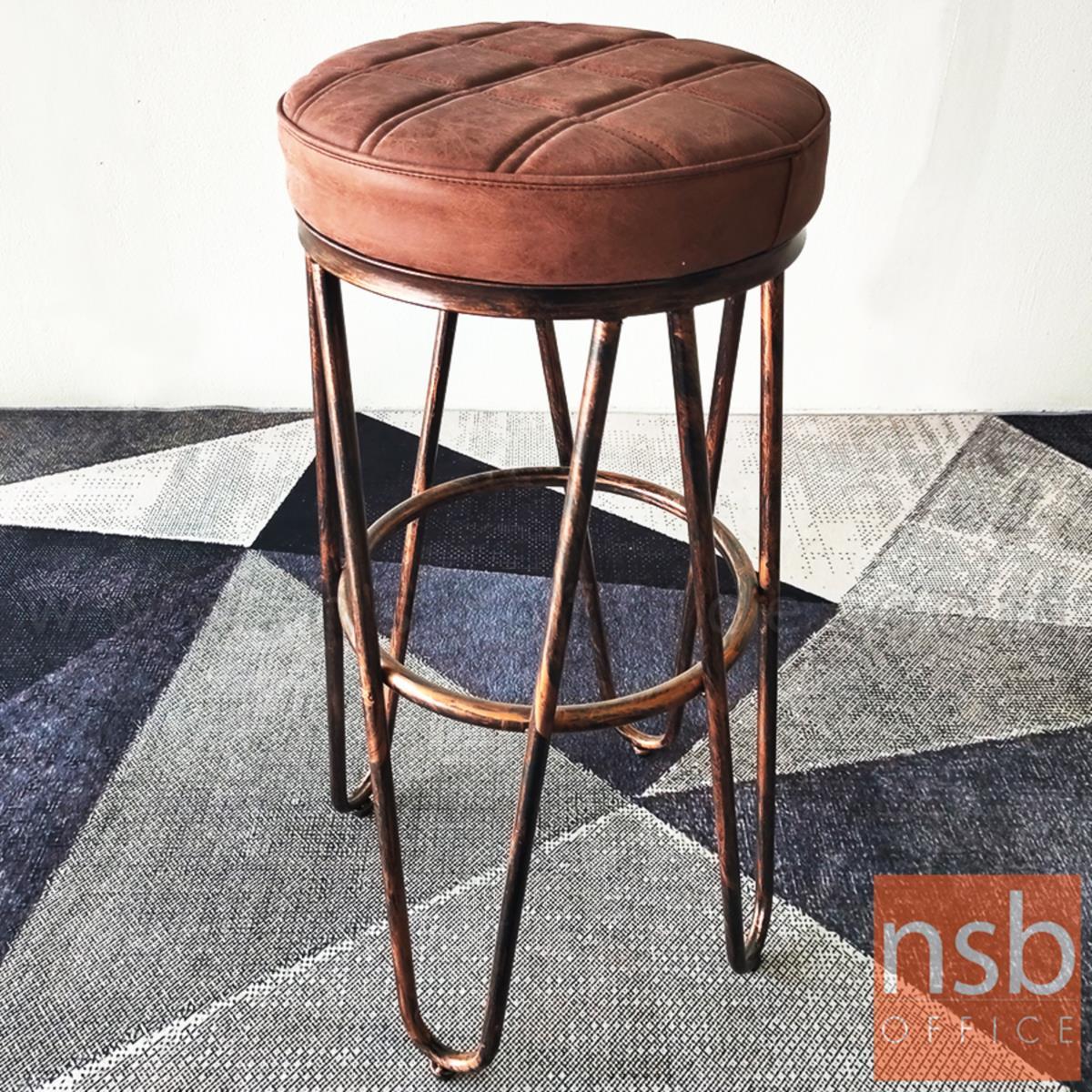 เก้าอี้บาร์สูง รุ่น BC-CO ขนาด 33Di cm. โครงขาเหล็กสีทองตัดสีรมดำ