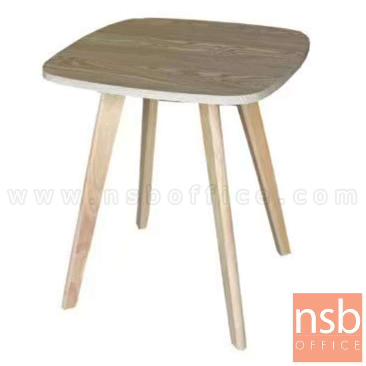 โต๊ะกลางไม้ รุ่น Benviar (เบนเวียร์) ขนาด 53H cm. ขาไม้
