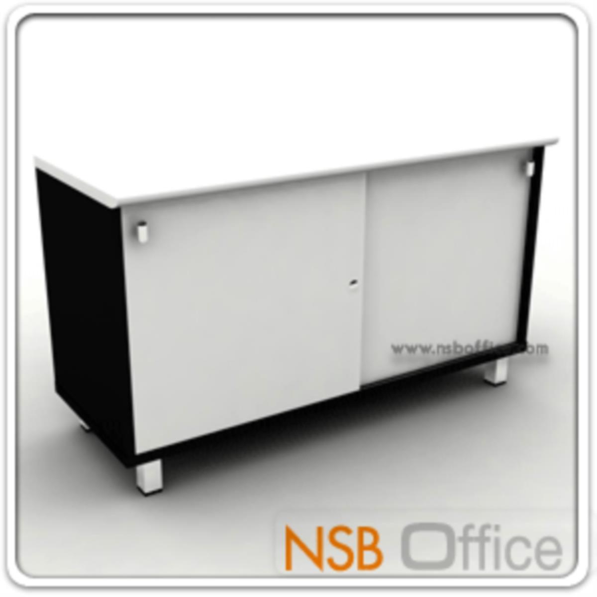 ตู้เสริมข้าง สูง 67 cm. 2 บานเลื่อน ผิวเงา Hi-Gloss รุ่น HTY-NAVA67  ขาเหล็กชุบโครเมี่ยม