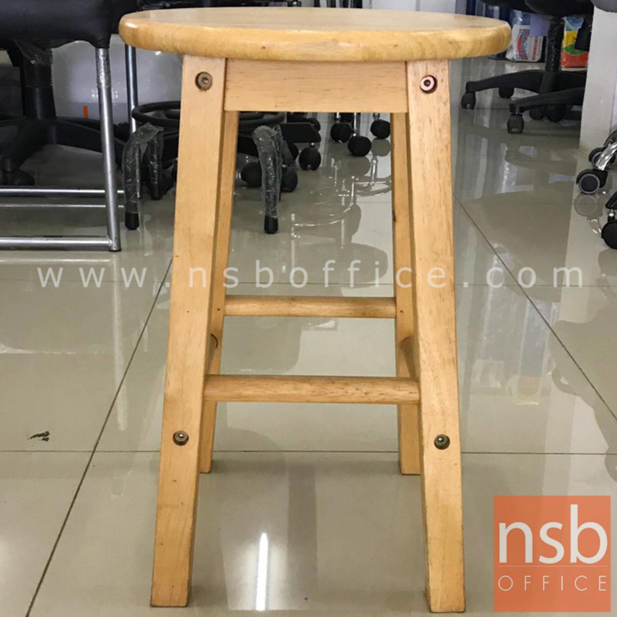 เก้าอี้สตูลไม้ล้วน รุ่น NSB-CHAIR3 ขนาด 31Di*47H cm. (STOCK-1 ตัว)