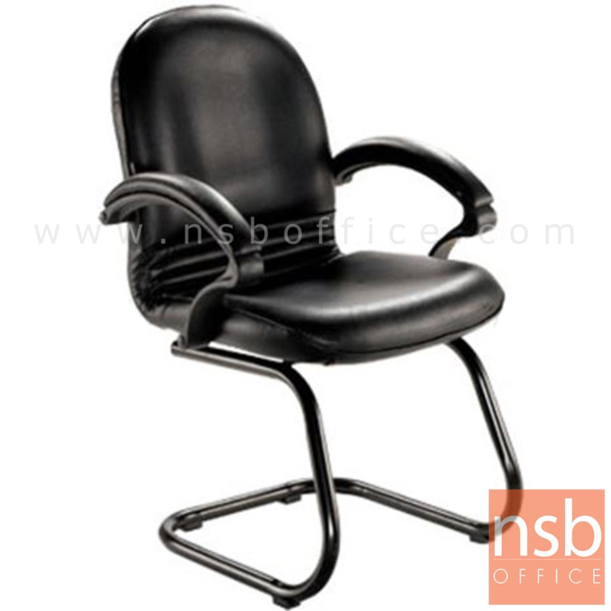 B04A156:เก้าอี้รับแขกขาตัวซี รุ่น Red Ribbon 2  ขาเหล็กพ่นดำ