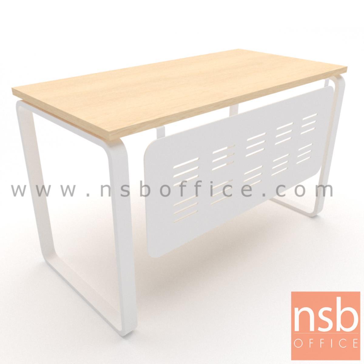 A10A098:โต๊ะทำงาน รุ่น Cinnamon (ชินาม่อน)  บังตาและโครงขาเหล็ก