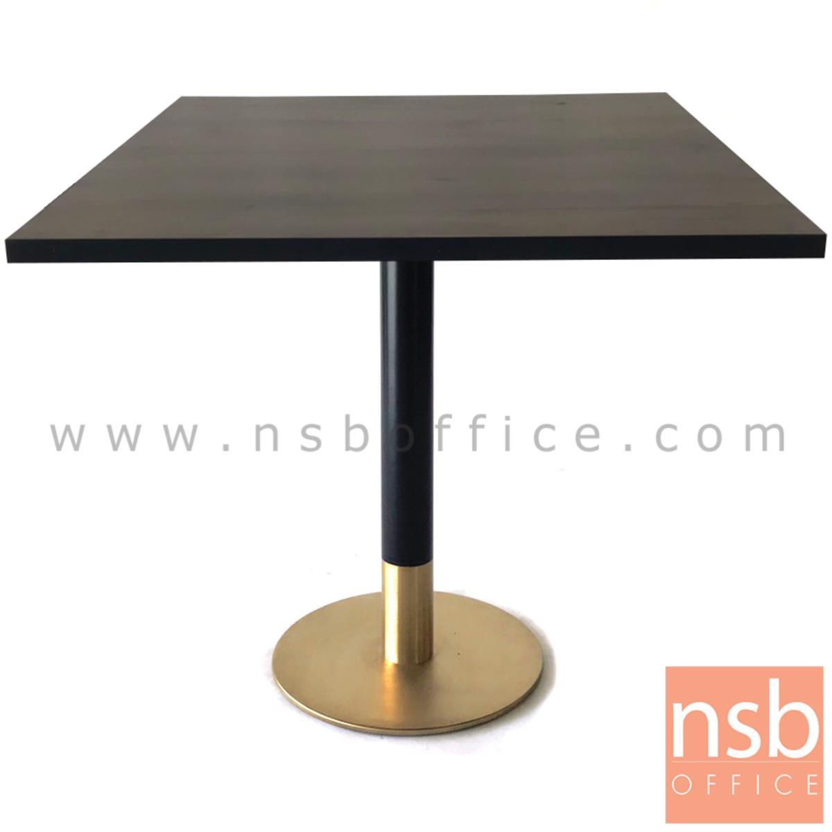 ขาโต๊ะบาร์จานกลม (สีดำ-ทอง) BLACKGOLD
