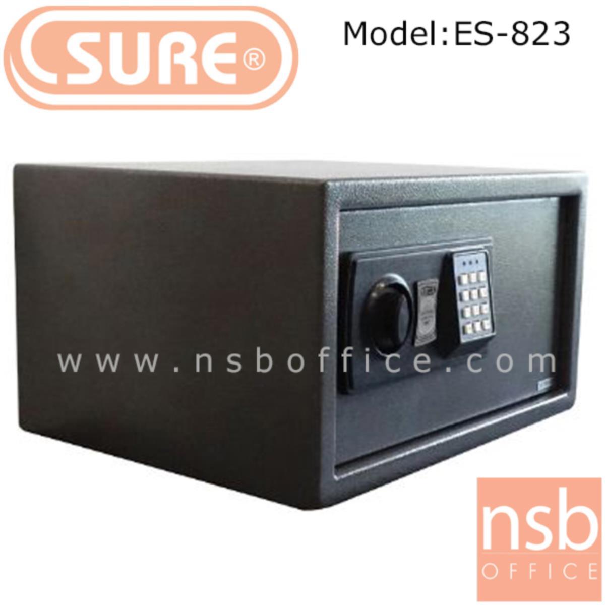ตู้เซฟดิจตอล SR-ES823 น้ำหนัก 9.5 กก. (1 รหัสกด / ปุ่มหมุนบิด)