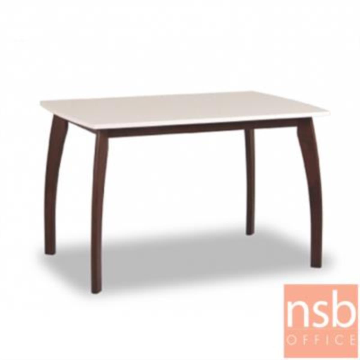 G14A164:โต๊ะรับประทานอาหารไฮกลอส 6 ที่นั่ง รุ่น GD-SC ขนาด 150W cm.  ขาไม้พ่นสีโอ๊ค