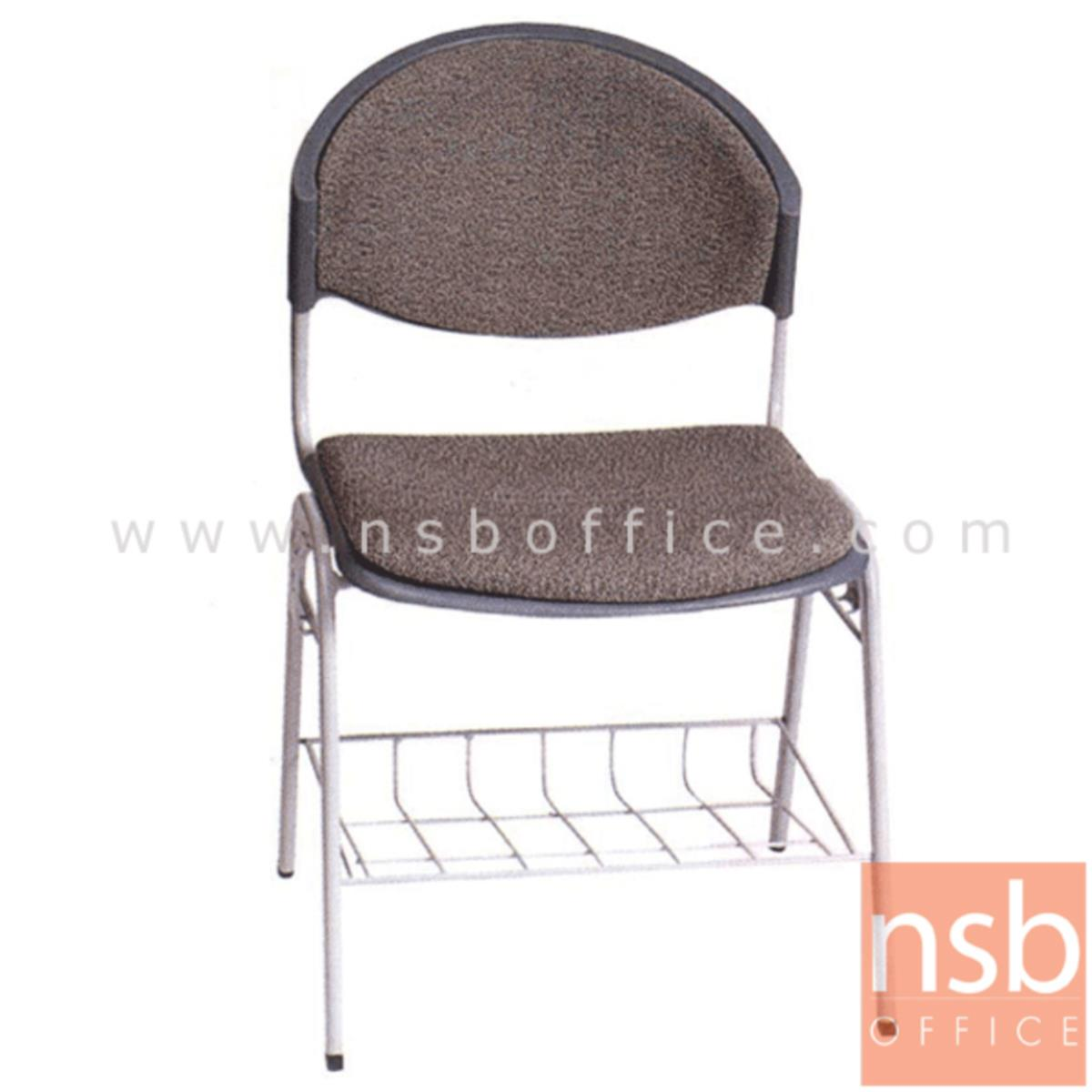 เก้าอี้อเนกประสงค์เฟรมโพลี่ รุ่น TD-780  มีตะแกรงล่าง มีที่เกี่ยวด้านข้าง ขาเหล็ก