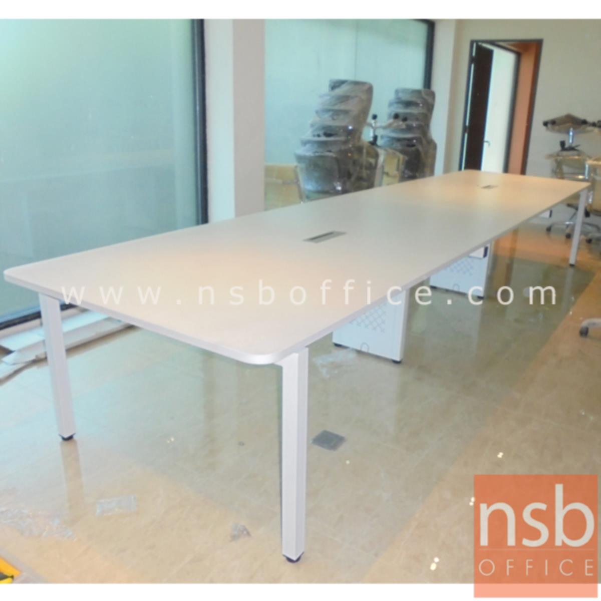 โต๊ะประชุมทรงสี่เหลี่ยม 150D cm. รุ่น CONNEXX-051 ขนาด 280W ,320W ,440W ,520W ,620W cm.  ขากลางมีกล่องร้อยสาย