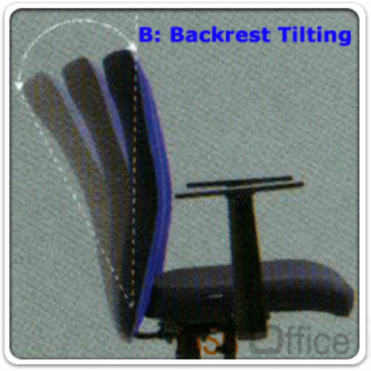 เก้าอี้สำนักงานหลังเน็ต รุ่น Herbert (เฮอร์เบิร์ต)  โช๊คแก๊ส มีก้อนโยก ขาเหล็กชุบโครเมี่ยม