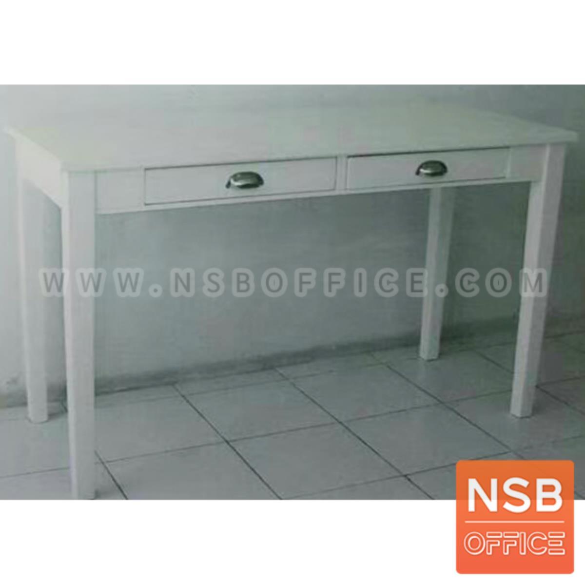 โต๊ะเหลี่ยมไม้ยางพารา 2 ลิ้นชัก รุ่น Ben (เบน) ขนาด 120W*50D*75H cm.