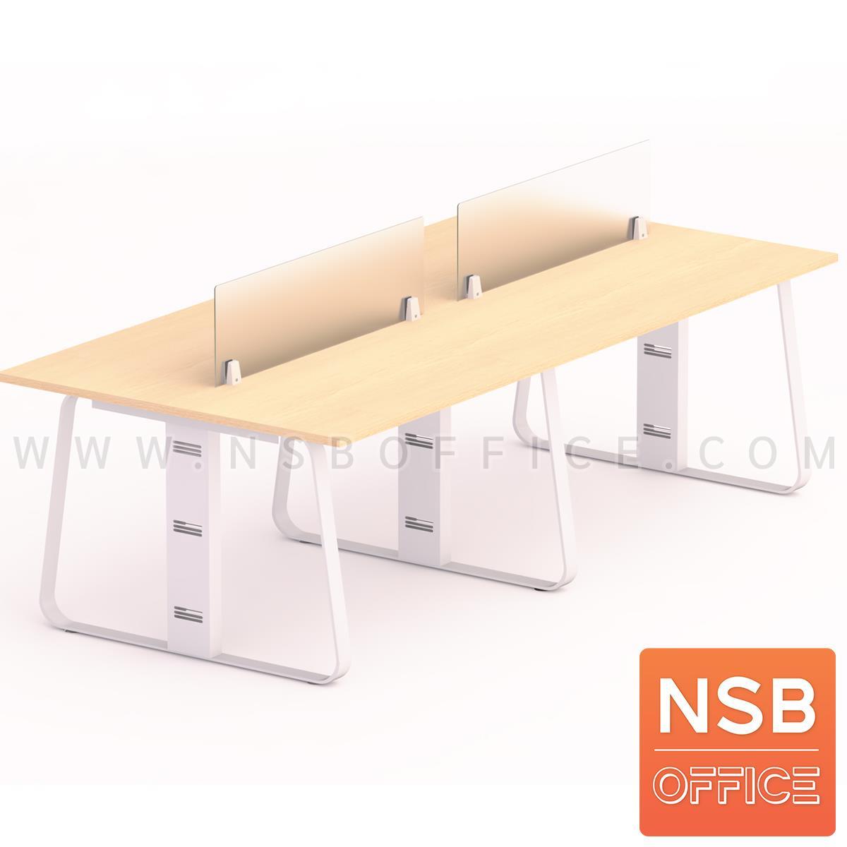ชุดโต๊ะทำงานกลุ่ม  รุ่น Lenka 1 (เล็งกา 1) 4 ,6  ที่นั่ง พร้อมมินิสกรีน ขาเหล็ก